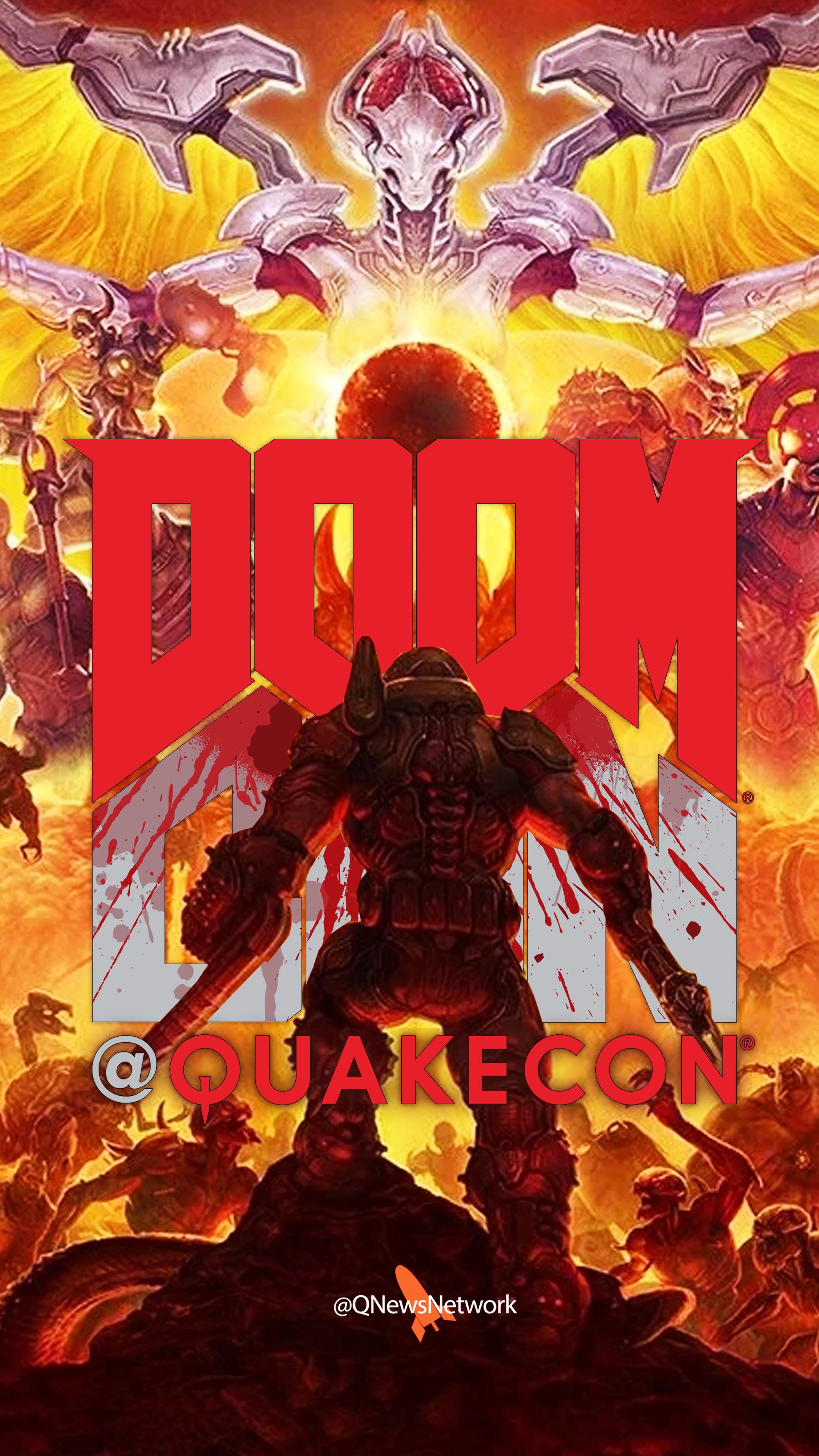 Quakecon 2019 Wallpaper Doomcon Doomguy Facing Off Q News Network